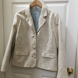 Floral Cream and Tan Blazer XL